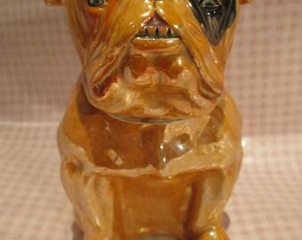 Fabulous Edwardian Lustre Ware Large Bulldog