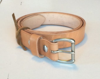 "1"" & 1-1/4"" Russet Harness Full Grain Leather Belt (custom options available)"