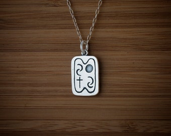 Native American Elements, Air Water Earth Spirit -STERLING SILVER- Chain Optional
