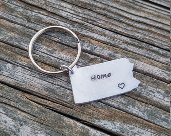 Personalized Pennsylvania Keychain | PA Keychain | Personalized Keychain | Custom Keychain | State Keychain | Custom State Keychain
