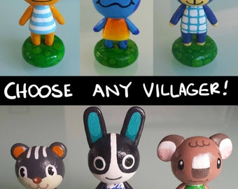 Animal Crossing Figures - Choose Any Villager - Nintendo Animal Crossing inspired