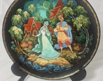 Tianex Russian Fairytale Legend of the Snowmaiden Collectible Wall Plate Bradford Exchange Kholui Art Studios Produced
