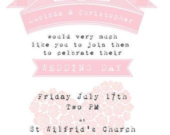 Pug Dog Wedding Invitation