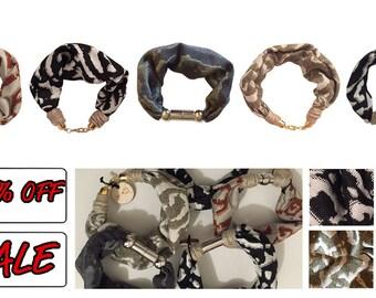 Jaguard fabric bracelet