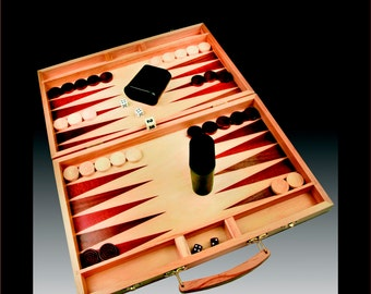 Backgammon Set, Custom Engraving with logo, graphic and Text