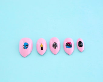 Nail Tattoos / Nail Decals / Nail Stickers - The Hawphabet