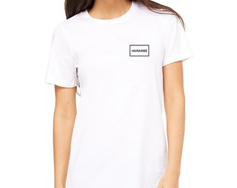 Harambe Shirt - Minimal   Unisex   More Colors