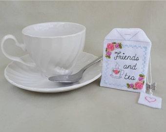 Tea Bag Sachet cross stitch - pattern only
