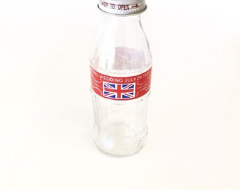 Princess Diana and Prince Charles Wedding Coca Cola Bottle Commemorative Coke Bottle