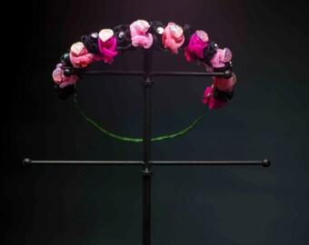 Romantic Flower Crown - OOAK