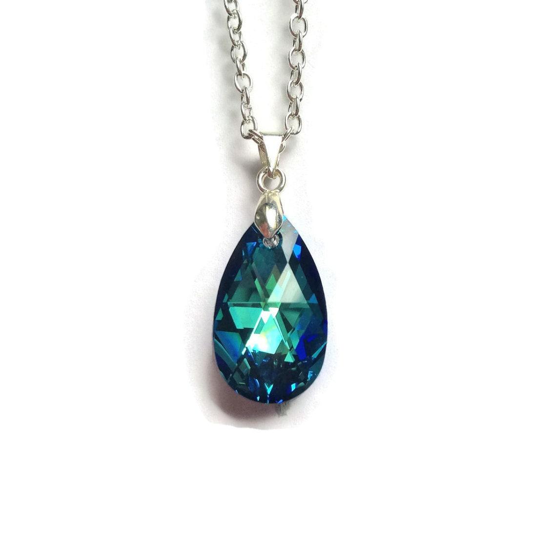 teardrop necklace swarovski pendant pear