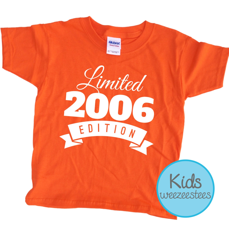 10 Year Old Birthday Shirt 2006 Kids Birthday Shirt By