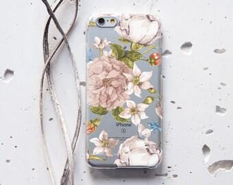 iPhone 6 Case Floral Samsung Galaxy S6 Case Silicone iPhone 6s Case Vintage iPhone 5s Case Rubber Samsung Galaxy S6 Edge Case iPhone 7 226