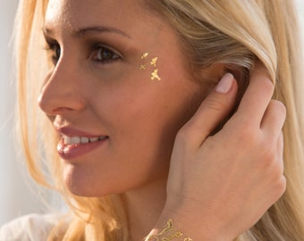 Charm Metallic Temporary Tattoo Collection by Jewelry Tattoo Lab. Designed in Paris.