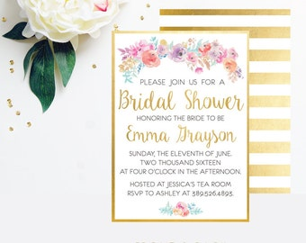 Bridal Shower Invitation - Custom digital bridal shower invitation - Printable Invitation