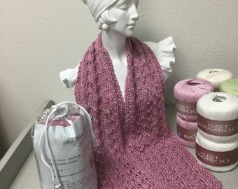 Bamboo Knitted Scarf Kit