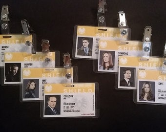 Marvel's Agents of Shield ID Badges