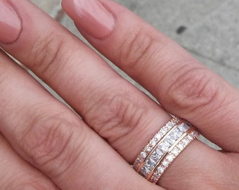 Sterling Silver with Gold Vermeil Eternity band