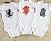 Where the Wild Things Are Baby - Wild Things Baby - Baby Shower Gift Set - New Baby Gift  - Wild Rumpus Bodysuit - I'll Eat You Up - Set of