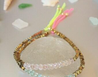 Neon Aquamarine Bracelet
