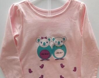 """T-Shirt girl or boy/Toddler Girl or Boy """"Les Koalas Bleus"""" - """"The Blue Koalas"""""""
