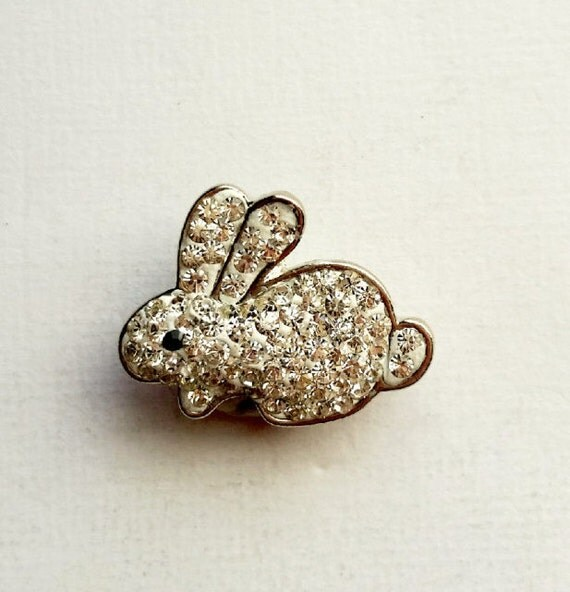 noosa snap charm rabbit snap button silver clear