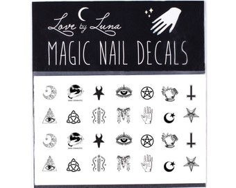 Occult Nail Decals / Symbols Nail Decal / Witch Nail Decal / Magic Nail Decal / Nail Wraps / Nail Tattoo / Nail Designs / Witchy / Symbols
