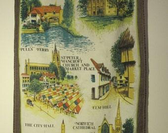 vintage Norwich tea towel