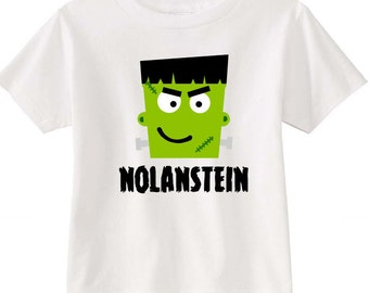 Frankenstein Customized Children's Halloween Shirt - Toddler Halloween Shirt - Frankenstein Shirt - Halloween Shirt - Personalized Shirt