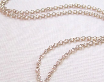 Silver heart necklace-silver necklace