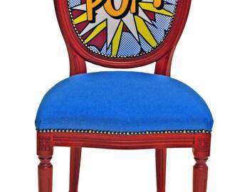 Pop! - Roy Lichtenstein Inspired Chair