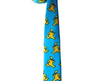 Blue necktie - Funny Gift - Men's Necktie - Yellow tie - Men's Gift - Naked tie