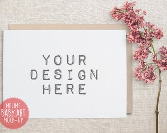 Cards Mockups, Styled Photography Mock Up, 5x7 Invitations Mockup, Shabby Chic Photography (A7.Card)