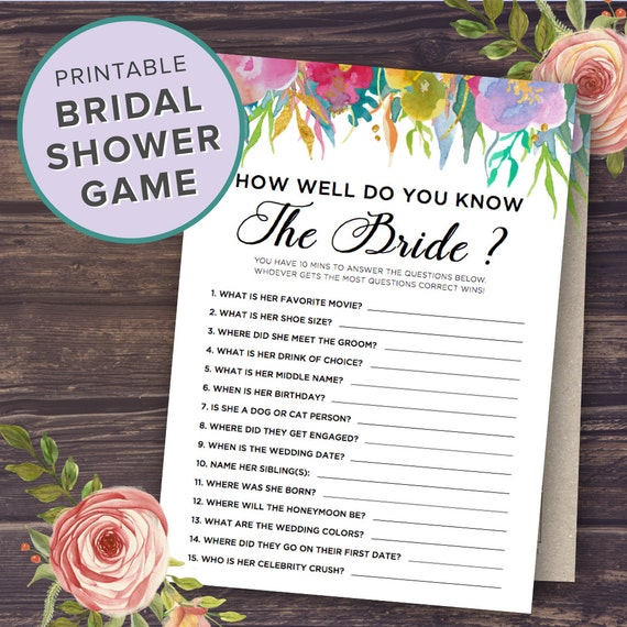 How Well Do You Know The Bride And Groom Who Knows The Bride