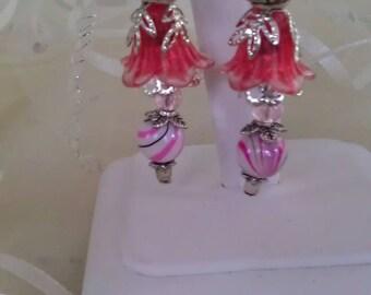DANGLE PINK EARRINGS