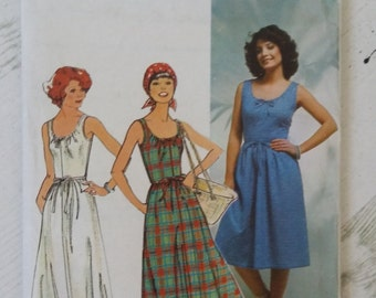 Vintage 80's New Look 6042 Dress Sewing Pattern Sizes 10 12 14