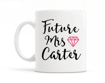 Engagement Gift For Engagement Party Bridal Shower Gift Engagement Mug Bridal Shower Decor Newly Engaged Gift Future Mrs Mug Engaged Mug