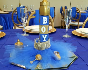 royal baby shower centerpieces