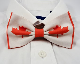 Canadian Flag Bow Tie