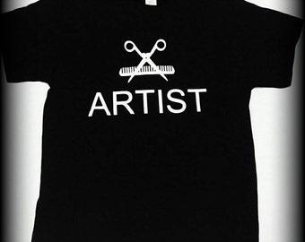 Hairstylist Gift, Barber t-shirt, hairdresser t-shirt, artist t-shirt, beautician t-shirt, hair stylist shirt, S, M, L, XL