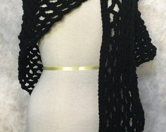 Lacey Black Shawl