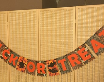 Trick or Treat Halloween Banner, Ghost, Bat, October 31, Decorations, Party, Trick or Treating, Fun