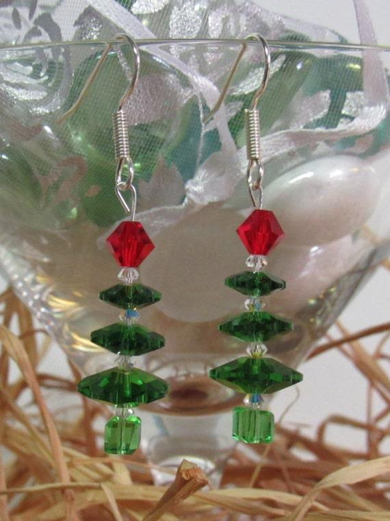 Swarovski Crystal Christmas Tree Earrings CT-01