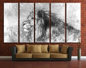 Lion Lion Wall Decor Lion Print Lion Canvas Lion Wall Art Lion Poster Lion Art Animal Wall Decor Animal Canvas Animal Poster Animal Print