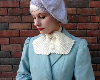 1930s Beret - Lilac Hat in larger size