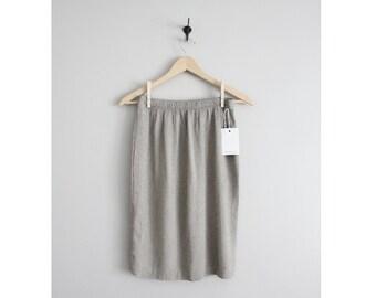 CLEARANCE | textured stretch skirt / muted skirt / short skirt