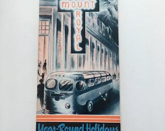Vintage Banff Mount Royal Hotel Brochure Alberta Canada circa 1948