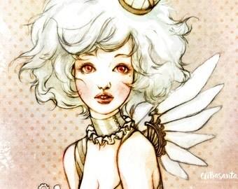 Steampunk Birdcage - Art Print 8 x 11