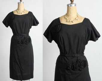 SALE - Rosette LBD Black Dress