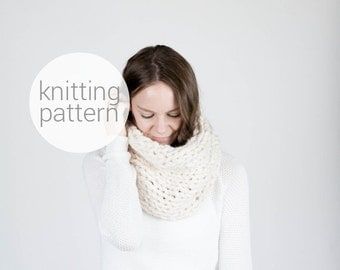 Pattern / Ozetta Super Chunky Knitted Cowl Scarf Pattern Instant Download For The Chinook Cowl